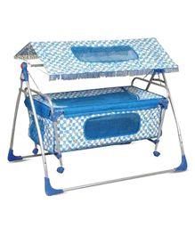 Bajaj Baby Cradle Cum Bassinet With Canopy - Blue