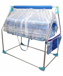Bajaj Baby Cradle Cum Cot With Mosquito Net - Blue