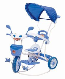 Bajaj Baby Tricycle With Canopy Adventure Plus Blue And Pink