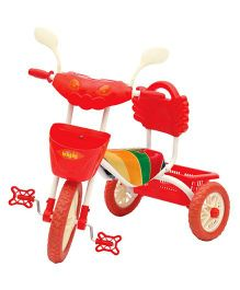Bajaj Tricycle With Horn & Storage Baskets - Red