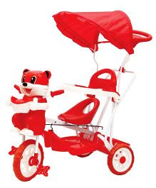 Bajaj Kitty Tricycle With Canopy - Red