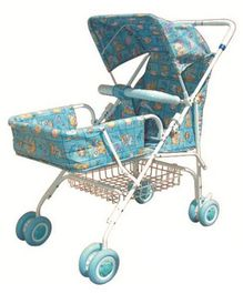 Bajaj Pram With Canopy Blue - 012