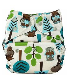 Bumberry Pocket Cloth Diaper With One Microfiber Insert - Trees