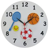 Kidoz Sports Wall Clock