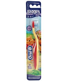 Oral-B Extra Soft Tooth Brush Stage 2 - Red And Yellow
