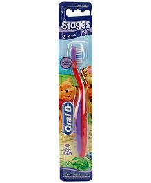 Oral-B Extra Soft Tooth Brush Stage 2 - Red And Purple