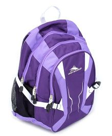 High Sierra Back Pack With Multi Compartments - Purple