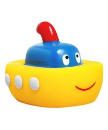 Mee Mee Ship Floater Squeeze Toy - Red Yellow Blue