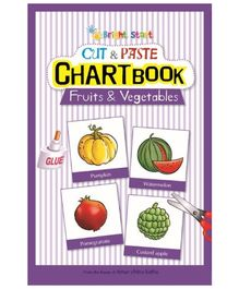 Brightstart Cut And Paste Chart Book - Fruits And Vegetables