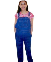Mama & Bebe Maternity Dungaree With Front Button Closure - Blue