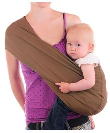 Nahshon Baby Side Carry Sling - Cocoa Brown