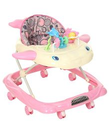 Fab N Funky Musical Baby Walker With Fish Shape Design - Pink