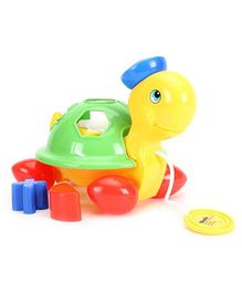 ABC Pull Along Toy Mrs Turtle - Yellow And Green