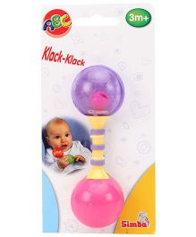 Simba ABC First Rattle Three Assorted Colors - 14 cm