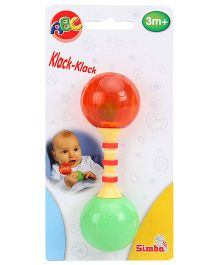 Simba ABC First Rattle - Green And Orange