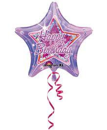 Wanna Party Birthday Balloon Star Shape - Purple