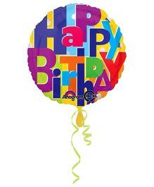 Wanna Party Bright Birthday Balloon - Multi Color