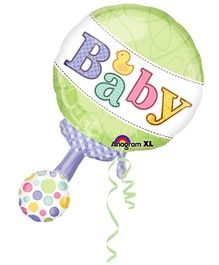 wanna Party Rattle Shape Balloon - Multi Color