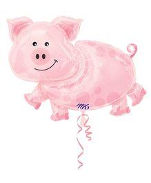 Wanna Party Balloon Pig Super Shape - Pink