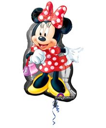 Wanna Party Balloon Minnie Mouse Print - Red And Black