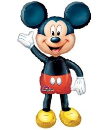 Wanna Party Mickey Mouse Balloon 52 Inches - Black And Red