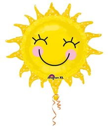 Wanna Party Smiling Sun Balloon - Yellow