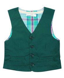ShopperTree Sleeveless Waistcoat - Green