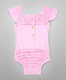 Pretty Ruffled Bodysuit – Pink