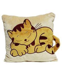 Soft Buddies Cushion Playtoy Loop Sleeping Cat - Brown