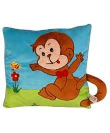 Soft Buddies Cushion Playtoy Loop Monkey - Blue And Brown