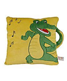 Soft Buddies Cushion Playtoy Loop Crocodile - Yellow And Green