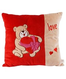 Soft Buddies Cushion Premium Playtoy Gift Bear - Red
