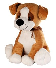Soft Buddies Cute Dog Brown Large - Height 35 cm