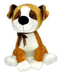 Soft Buddies Cute Dog Golden Brown Small - Height 15 cm