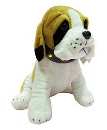Soft Buddies Sitting Bull Dog Soft Toy Golden Brown - Medium