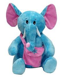 Soft Buddies Naughty Elephant With Bag Blue - Height 38 cm