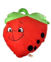 Soft Buddies Cushion Strawberry Face Playtoy Red - Height 14 Inches