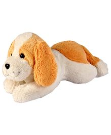 Soft Buddies Lazy Dog Soft Toy White And Brown - 45 cm