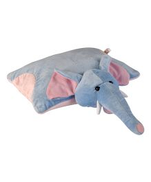 Soft Buddies Elephant Pillow Blue - Height 14 Inch