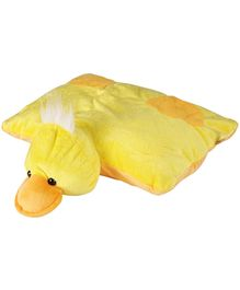 Soft Buddies Folding Pillow Duck - Yellow