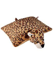 Soft Buddies Folding Pillow Leopard - Brown