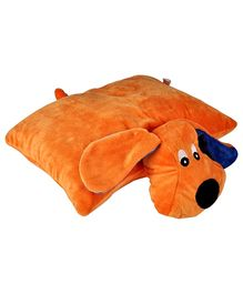 Soft Buddies Folding Pillow Dog - Orange