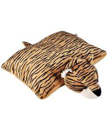 Soft Buddies Folding Pillow Tiger - Brown