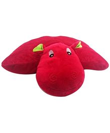 Soft Buddies Folding Pillow Hippo - Red