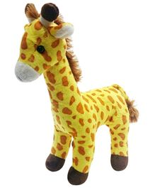 Soft Buddies Standing Giraffe Soft Toy Yellow - 27 cm