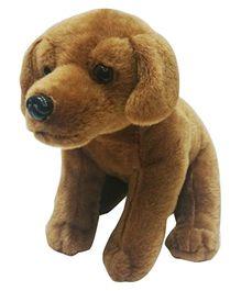 Soft Buddies Sitting Labrador Dog Soft Toy - Dark Brown