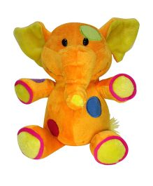 Soft Buddies Elephant Soft Toy Orange - Height 20 cm