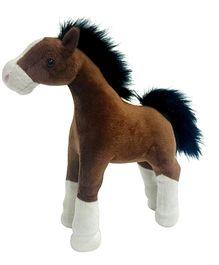Soft Buddies Standing Horse Dark Brown - Height 27 cm