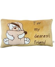 Soft Buddies Premium Cushion Playtoy Bear Dearest Friend - Brown