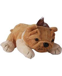 Soft Buddies Lying Bull Dog Soft Toy Light Brown Medium - Height 38 cm